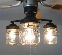 Ceiling Fan With Crystal Chandelier Light Kit by Vintage Canning Jar Ceiling Fan Light Kit 149 00 Via