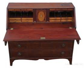 tables bureau georgian mahogany bureau desk writing table antiques atlas