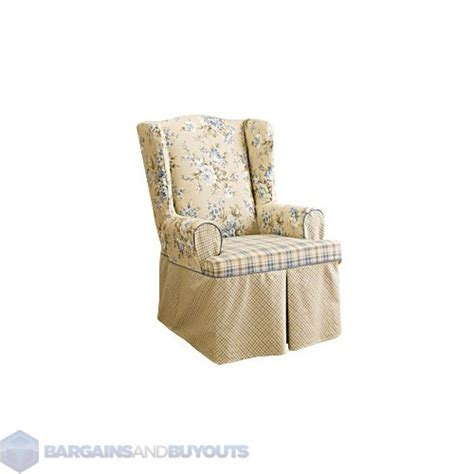 sure fit lexing ton box cushion wing chair furniture