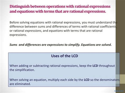 Ppt  66 Solving Equations With Rational Expressions Powerpoint Presentation Id1717427