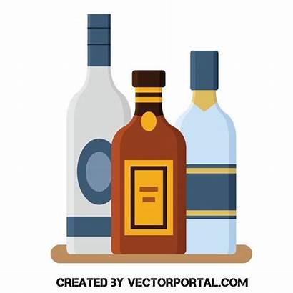 Alcohol Clipart Bottle Bottles Vodka Clip Drink