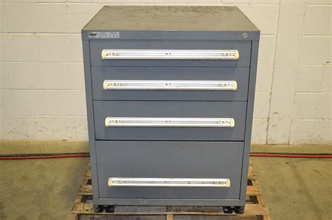 stanley vidmar 4 drawer tool cabinet w dividers the