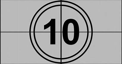 Countdown Seconds Film Cinema 4k Shutterstock Screen