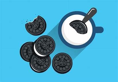 Oreo Cookie Clip Clipart Vector Cookies Milk