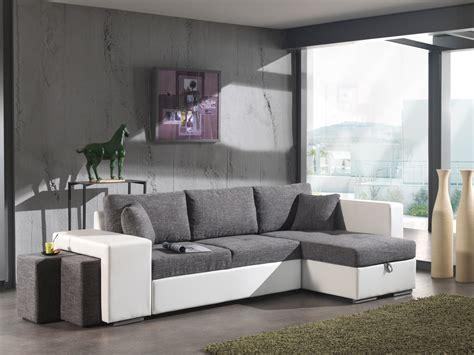 canapé d angle avec pouf canapé d 39 angle convertible avec pouf en tissu gris pu