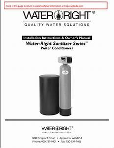 Water Right Sanitizer Series Water Conditioners