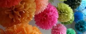 Guirlande De Pompon : diy d co trois types de pompons en papier de soie bricolage communion and craft ~ Teatrodelosmanantiales.com Idées de Décoration