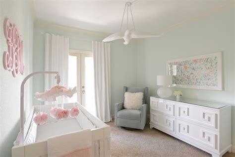 girls nursery contemporary  mint green white