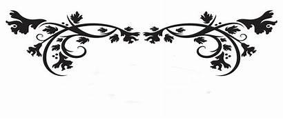 Bunga Vektor Gambar Bingkai Motif Clipart Hitam