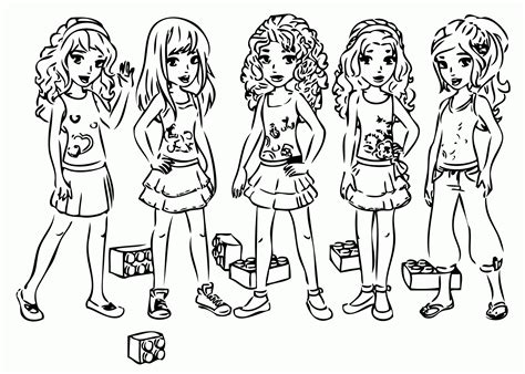 Kleurplaat Lego Friends by Colouring Pages Lego Friends Colouring Coloring Home