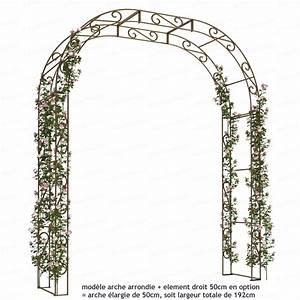 Arche De Jardin En Fer Forgé : arche de jardin arrondie en acier plein arches kiosque ~ Premium-room.com Idées de Décoration