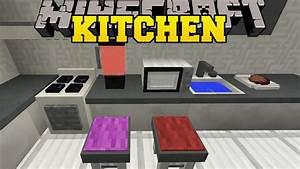 Minecraft modern kitchen furniture with only two command for Kitchen furniture minecraft command