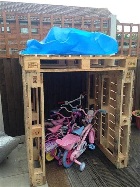 diy wooden pallet kids bikes shed pallets designs