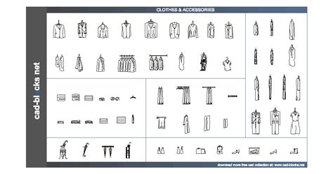 others cad blocks clothes shoes towels and accesories in front elevation