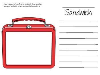 carlas sandwich writing activity  nikaliste naquin tpt