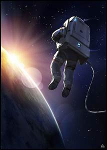 space suit sunset by jamga on DeviantArt