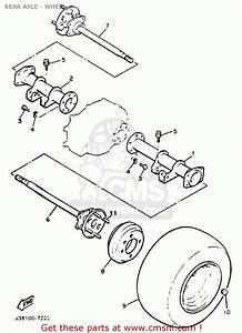 Yamaha G9-ah Golf Car 1992 Rear Axle - Wheel