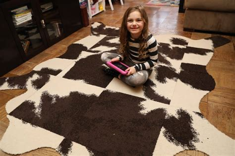 Diy Cowhide Rug by Diy Faux Cow Hide Rug Stroller In The City