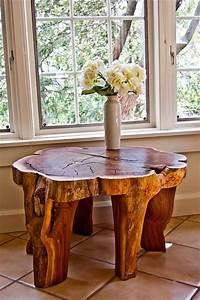 Table Basse Tronc : fabriquer table en tronc d arbre bricobistro ~ Teatrodelosmanantiales.com Idées de Décoration