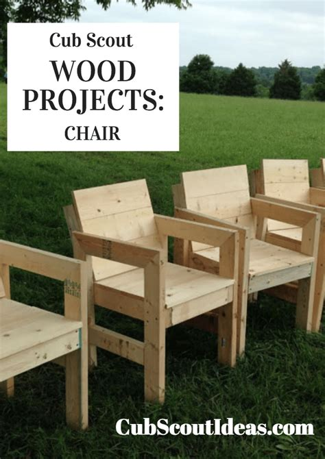 cub scout wood project build  wooden chair cub scout ideas