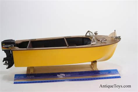 Battery Powered Boat fleet line battery op 50 s boat usa antique toys for sale