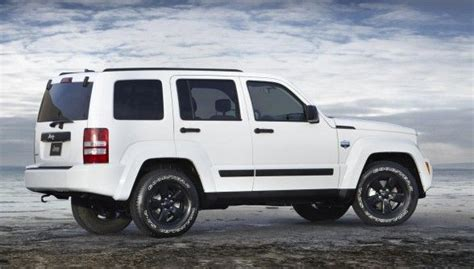 Gallery For> White Jeep Liberty Black Rims