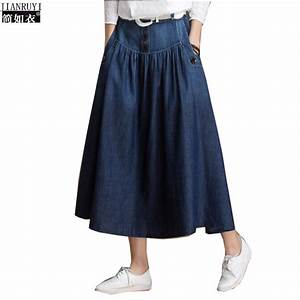 Popular Long Jean Skirt-Buy Cheap Long Jean Skirt lots from China Long Jean Skirt suppliers on ...