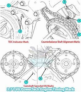 Jeep Commander Xk Timing Marks Diagram  3 7 L Powertech V6