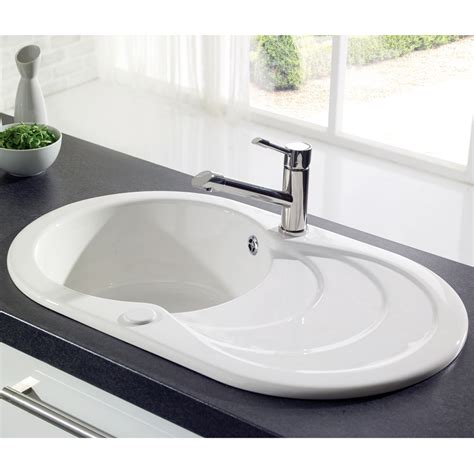 buy ceramic kitchen sink astracast cascade 1 0 bowl gloss white ceramic kitchen