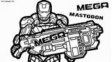 Nerf Coloring Pages Gun Printable Sheets Print Template Luxury Lovely Sketch Cool Templates sketch template