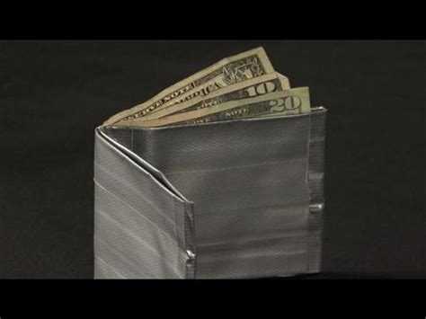 how to make a duct wallet how to make a duct tape wallet youtube