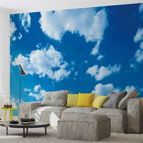 clouds sky nature wall paper mural buy at europosters
