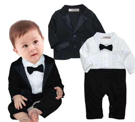 amazon christmas deals 2019 stylesilove baby boys tuxedo wedding romper and jacket 2