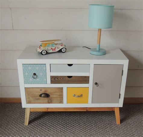 petit meuble avec 1 porte et cinq tiroirs esprit