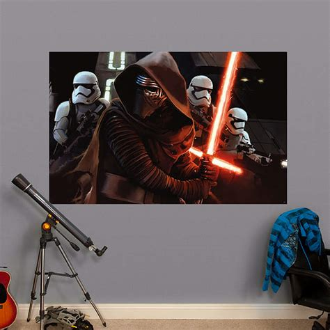 siege mural rabattable kylo ren siege mural wall decal shop fathead 174 for wars decor