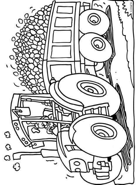 Kleurplaat Tractor Met Ploeg by Kleurplaat Tractor Met Heel Veel Paaseieren Kleurplaten Nl