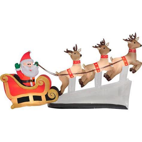 images  santa sleigh  reindeer outdoor