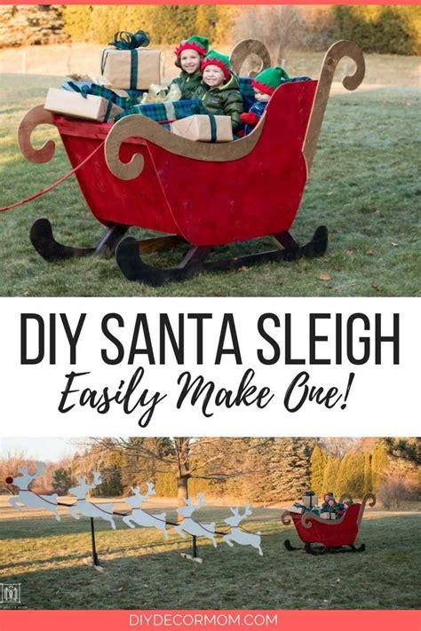 diy santa sleigh      santas sleigh