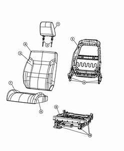 Dodge Journey Headrest  Front  Trim   Cloth Low