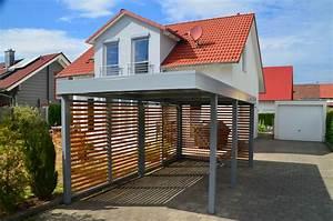 Design Carport Holz : myport carport einzel in telegrau mit wandelement holz offen carport carports ~ Sanjose-hotels-ca.com Haus und Dekorationen