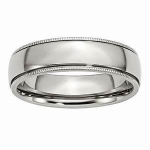 mens 6mm stainless steel wedding band jcpenney With jcpenney wedding rings men