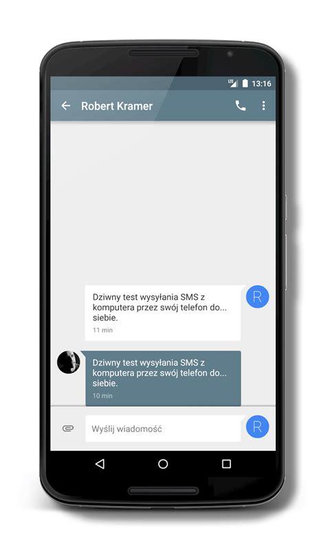 wysyłanie sms z komputera przez telefon i powiadomienia
