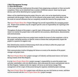 sample risk management plan template 8 free documents With church risk management plan template