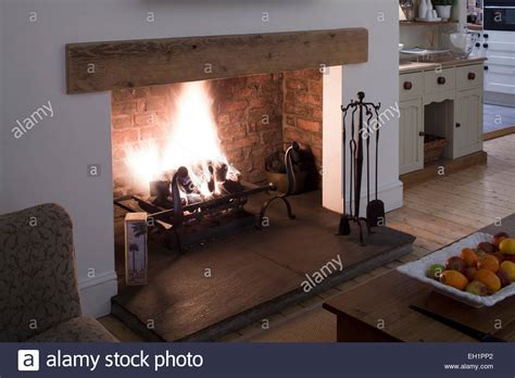 Open Fire In Living Dining Room Of Macclesfield Townhouse