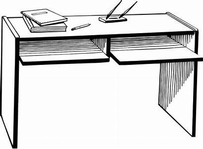 Desk Clipart Background Office Illustration Teacher Student