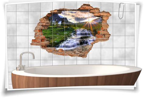 Fliesenaufkleber Natur by Fliesenaufkleber Aufkleber Wanddurchbruch Natur Berge Bach