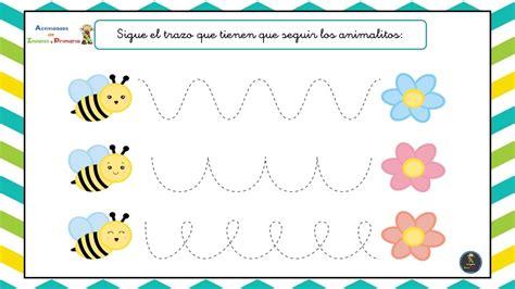 Fichas de grafomotricidad para Infantil con animalitos