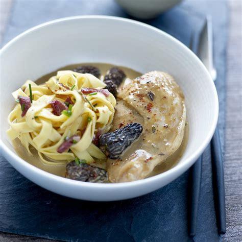 cuisine gastronomique facile recette suprême de volaille fermière aux morilles