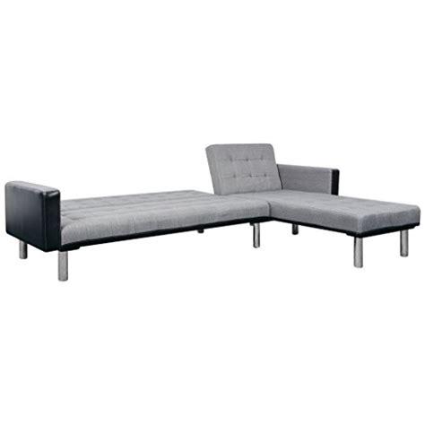 canapé de repos vidaxl canapé lit convertible en forme de l tissu