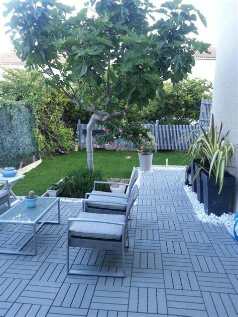 garden runnen  ikea galets marbre blanc pots